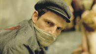 "Geza Röhrig as Auschwitz Sonderkommando Saul Ausländer in ""Son of Saul."" Courtesy of N.Y. Film Festival"