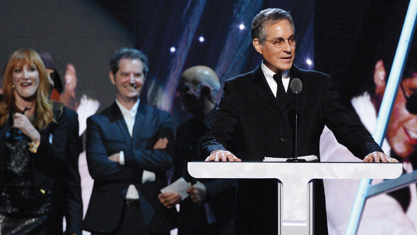 Max Weinberg in 2014, when he and the other members of the E Street Band were inducted into the Rock and Roll Hall of Fame.