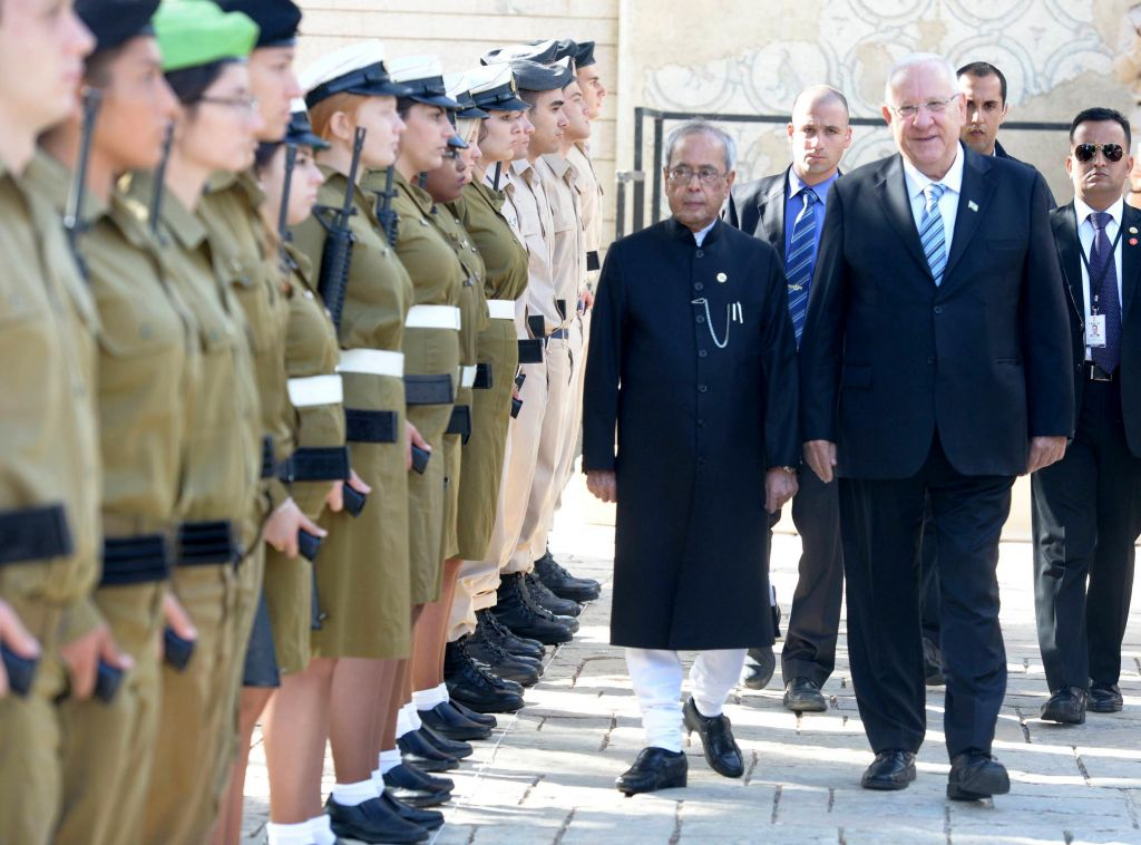 Israeli president arrives in India, says supports India's fight against terror