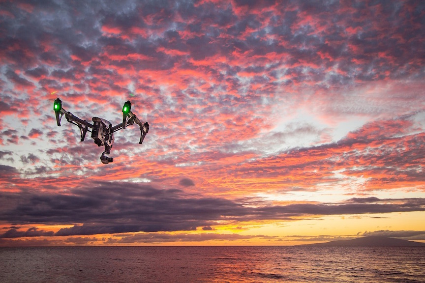 Drone in action (Pixabay)