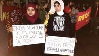 """Zionists out of CUNY!"" chanted students at the march. Via YouTube.com"