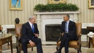 President Obama and Prime Minister Netanyahu at the White House on Monday. Getty Images
