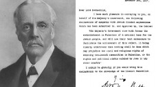 Arthur Balfour and the declaration which issued official sympathy for the Jewish national movement