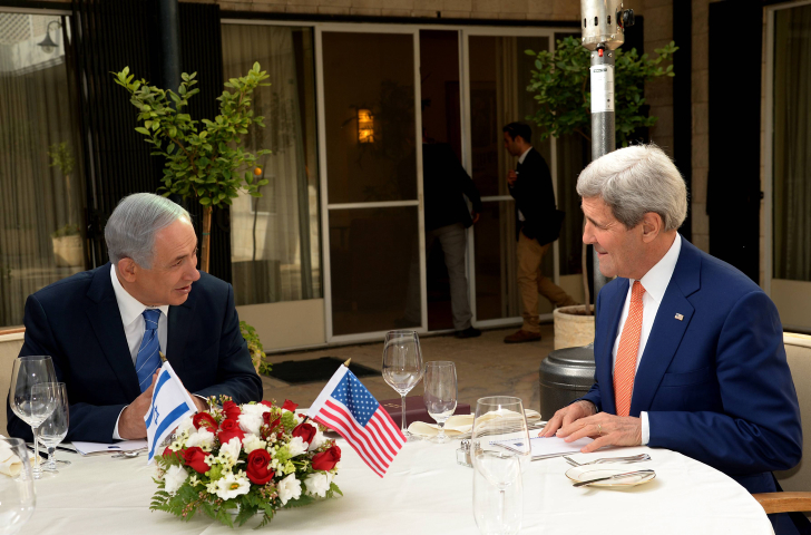 US Secretary of State, John Kerry, meets with Prime Minister Benjamin Netanyahu, at PM Netanyahu's residence in Jerusalem, during an official visit to the region, on November 24, 2015.(Haim Zach/GPO)
