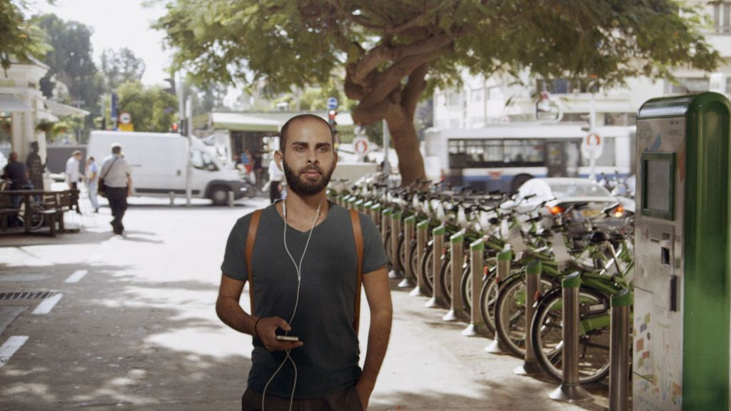 Naim wanders the streets of Tel Aviv in British director and producer Jake Witzenfeld's 'Oriented.' (courtesy)