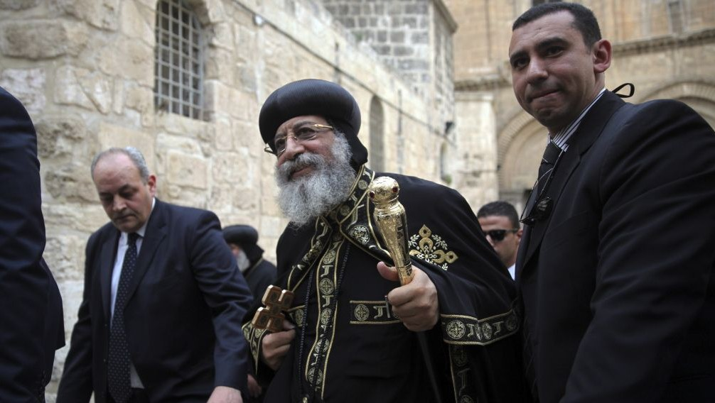 Image result for free photo coptic patriarch at Church of the Holy Sepulchre
