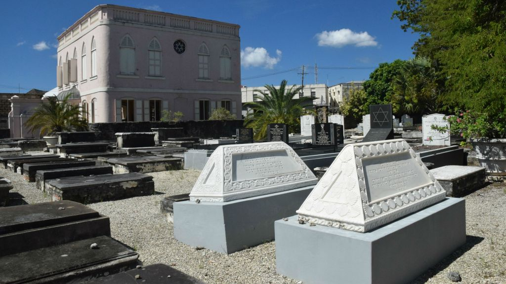 The historic Nidhe Israel Synagogue of Bridgetown, Barbados, which dates back to 1654, is considered the oldest in the western hemisphere. (Ze'ev Portner/The Times of Israel)