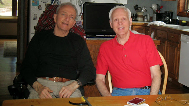 David Epstein, left, and his brother, Howard Epstein, both have APBD, which is more prevalent among Ashkenazi Jews than in the general public. (Courtesy of David Epstein/via JTA)