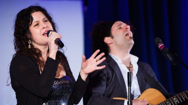 Neshama Carlebach and Josh Nelson performing at the United Synagogue centennial in Baltimore, Md. JTA