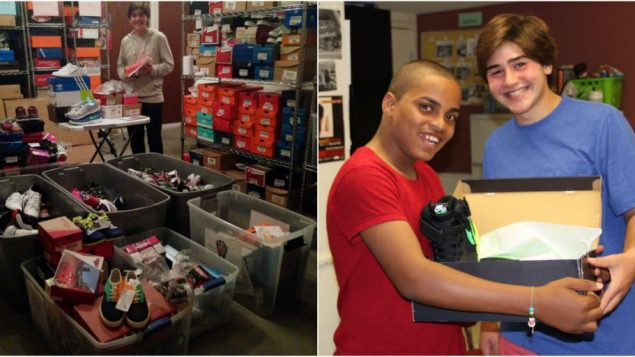 Nicholas Lowinger, founder of the Gotta Have Sole Foundation, donates shoes to children in need. Courtesy Gotta Have Sole