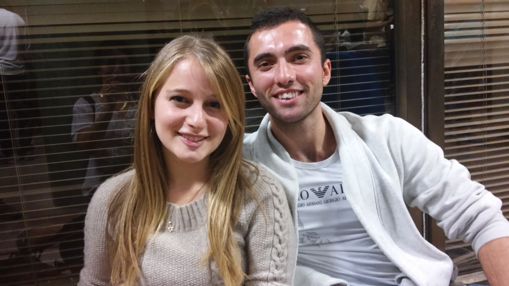 Monica and Isaac met while serving near the Syrian border (Simona Weinglass/The Times of Israel)