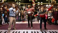 """From left, Seth Rogen, Anthony Mackie and Joseph Gordon-Levitt star in Jonathan Levine's """"The Night Before."""" Columbia Pictures"""
