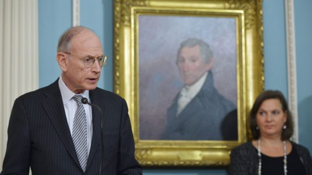 US lead negotiator and the Secretary of State's Special Adviser on Holocaust Issues Stuart Eizenstat. Getty Images