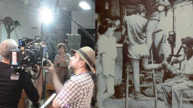 The bullet factory in 1948, right, and in film in progress. Courtesy of Laurel Fairworth