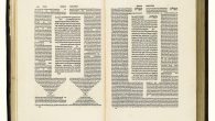 Pages from The Complete Babylonian Talmud, printed by Daniel Bromberg in Venice in the 16th century. Courtesy of Sotheby's