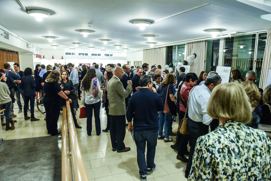 About 500 people attended the opening of the second round of the A3I accelerator at the Weizmann Institute, November 25, 2015 (Courtesy)