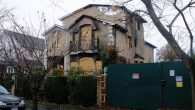 One of the torched homes, this one on 112st Street in Forest Hills. Michael Datikash/JW