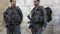 Israeli Border Police officers standing guard in Jerusalem. Wikimedia Commons