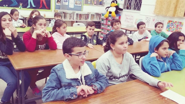 From their classroom in Nahariya, youngsters have a connectin with New Jersey.