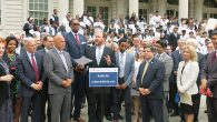 Councilman David Greenfield speaking at a rally in support of the bill last May. Courtesy of David Greenfield