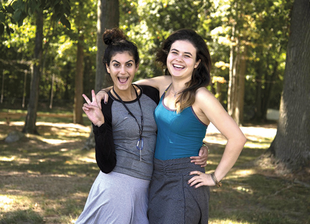 Aviva Banayan and Sophie Goldberg, right, all are featured on the new Rockland and Jewish Facebook page.