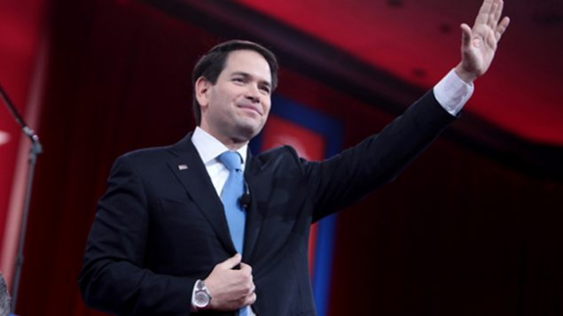 Third in national polls, Marco Rubio, above, along with Ted Cruz. GETTY IMAGES