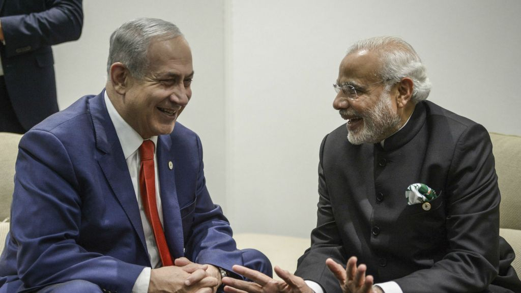 Image result for israelian pm and pm modi together