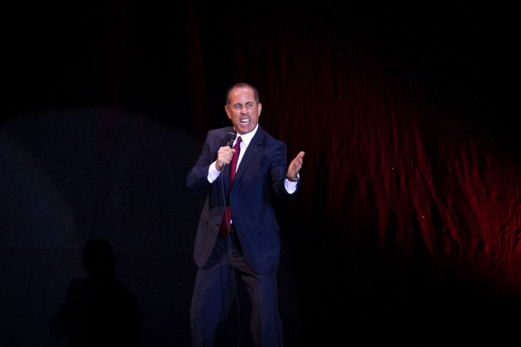 Jerry Seinfeld performs in Tel Aviv on December 19, 2015. (Photo by Miriam Alster/FLASH90)