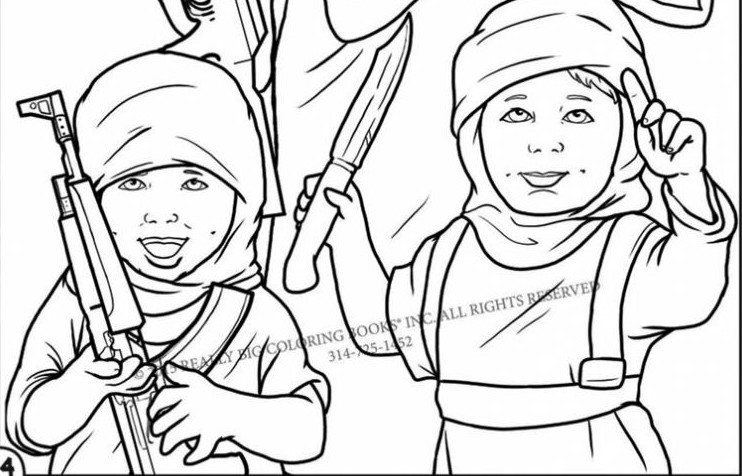islamic coloring pages - coloring book highlights brutality of islamic state the