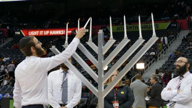 Hawks Lit Up on Chanukah 1