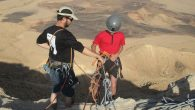 Higher ground: Rappelling is a popular activity at the Ramon Crater in Mitzpeh Ramon. Michele Chabin/JW