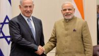Israeli Prime Minister Benjamin Netanyahu, left, meeting with his Indian counterpart, Narenda Modi, in New York, Sept. 2014. JTA