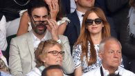 Sacha Baron Cohen and Isla Fisher attending day 13 of the Wimbledon Tennis Championships at Wimbledon.Karwai Tang/WireImage