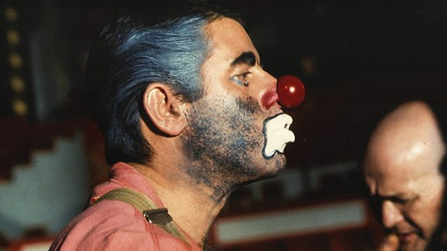 """Lewis in YouTube clip of """"The Day the Clown Cried."""" Courtesy of Richard Latto"""