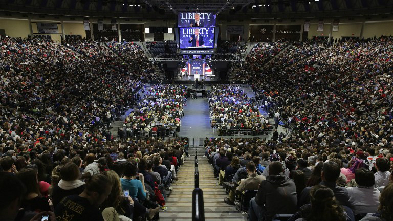 LYNCHBUGRG, VA: Record Crowd at Liberty University