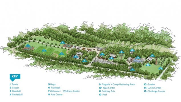 An artist's rendering of the new, expanded site of JCC Manhattan's Camp Settoga in Pomona, N.Y. Courtesy of JCC Manhattan