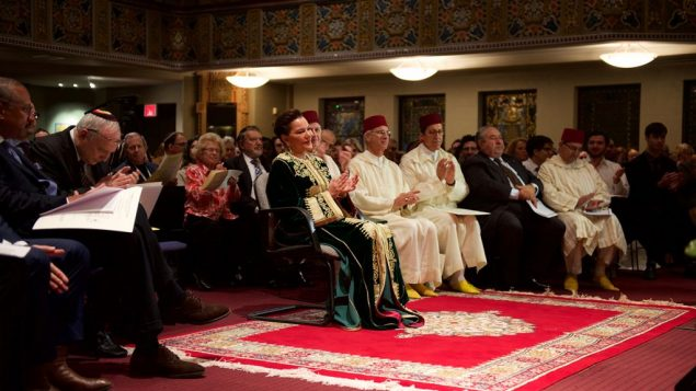 Caption: Princess Lalla Hasna of Morocco, center, at B'nai Jeshurun event. Courtesy of Peter Gefen