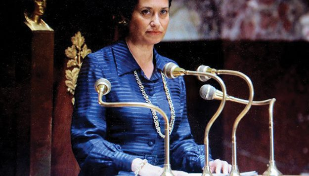Emmanuelle Devos as Simone Veil, France's minister of health in the government of Jacques Chirac. Jewish Film Festival