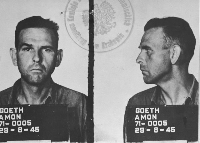 Amon Goeth, the brutal SS commander of Plaszow concentration camp near Krakow, Poland (Wikimedia Commons)