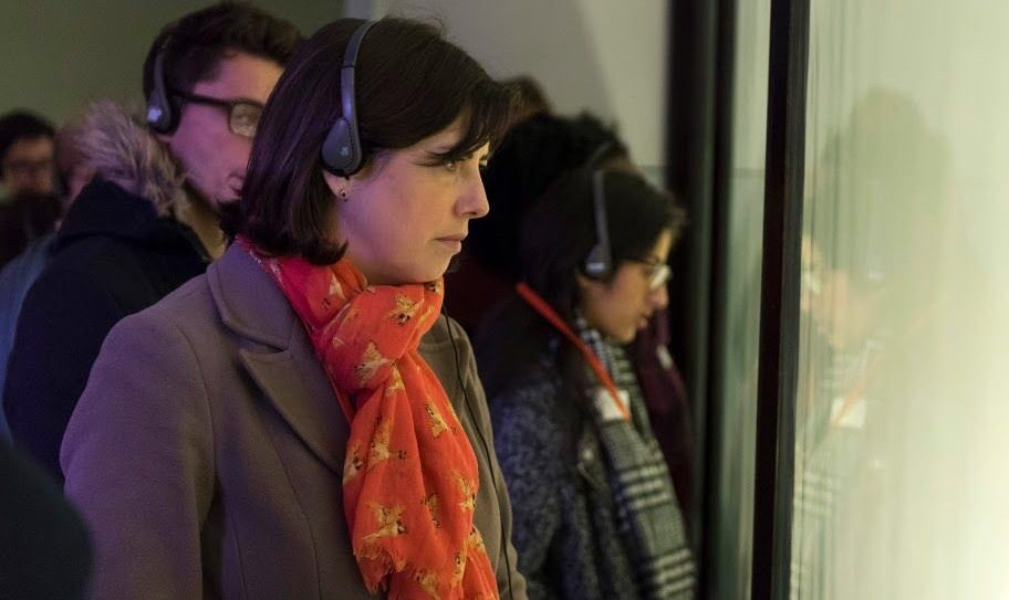 Lucy Powell MP visiting Auschwitz