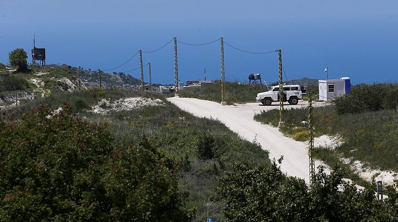 View of the Israel-Lebanon border from Israel's Western Galilee. April 25, 2015. (Nati Shohat/Flash90)