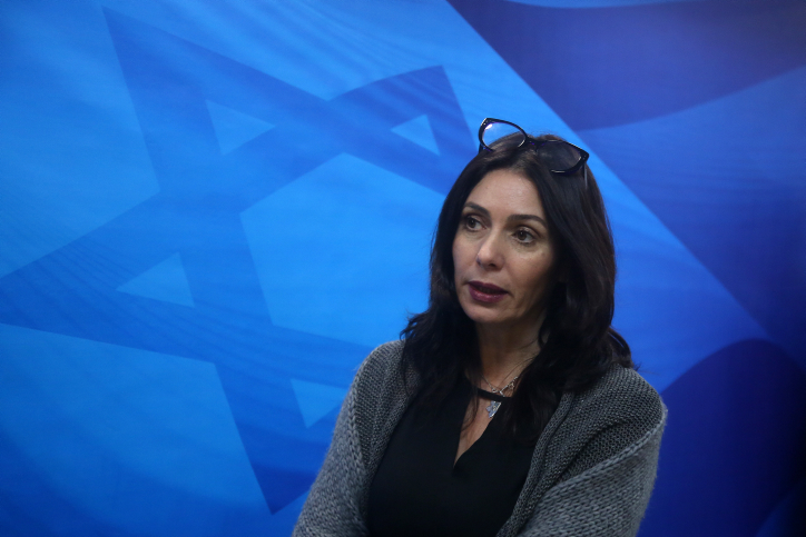 Culture Minister Miri Regev in Jerusalem on December 27, 2015.(Marc Israel Sellem/POOL)