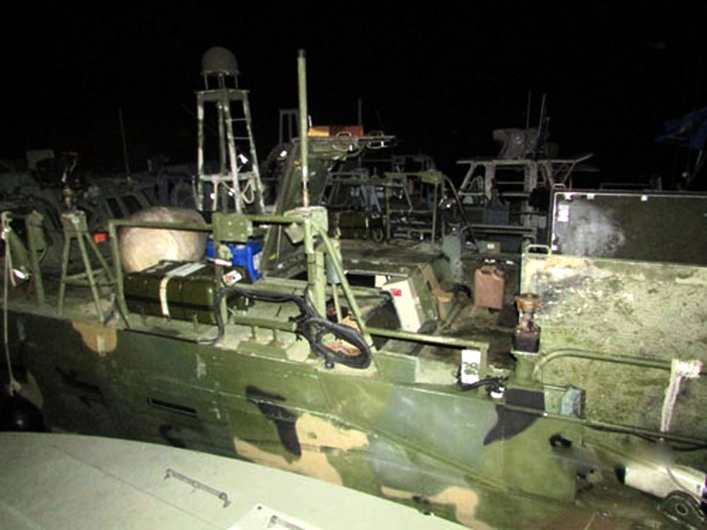 This picture released by the Iranian Revolutionary Guards on Wednesday, Jan. 13, 2016, shows American Navy boats in custody of the guards (Sepahnews via AP)