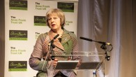Theresa May giving her speech at the Anne Frank Trust Annual Lunch