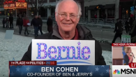 The Ben & Jerry's Cofounder discussing 'Bernie's Yearnings' on MSNBC. Via youtube.com