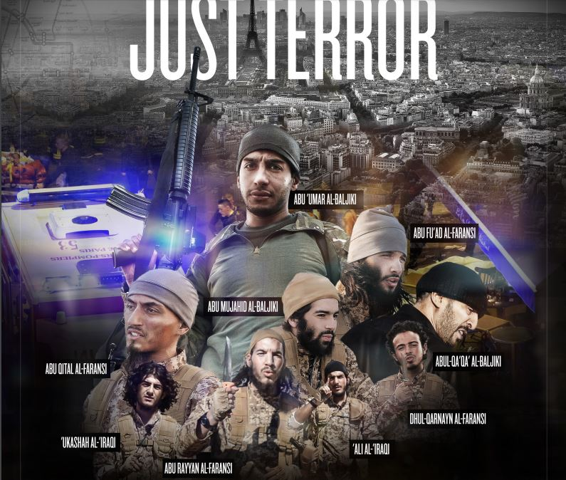A tribute in Dabiq to terrorists in attacks on Paris, including two previously unknown men. (screen capture: Dabiq)