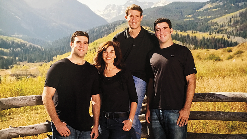The Petaks in Colorado — from left, Aaron, Jayne, David, and Derek.