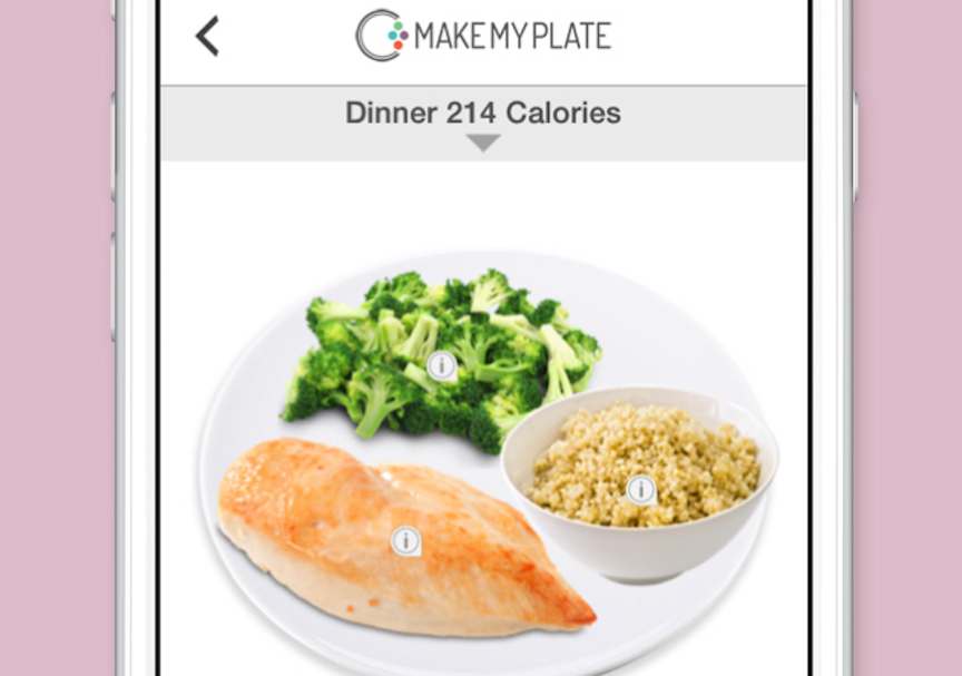 A MakeMyPlate screenshot (Courtesy)