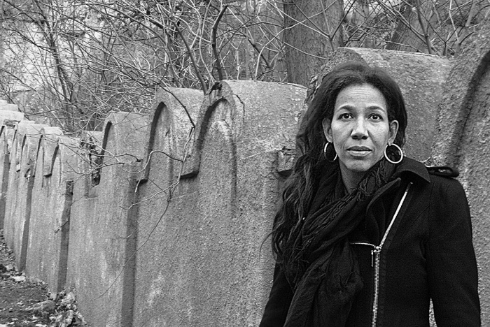 Jennifer Teege in front of the former Jewish ghetto in Krakow, Poland, from her 2015 book 'My Grandfather Would Have Shot Me' (courtesy)