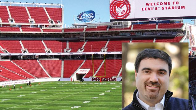 Levi's Stadium, above, will host Super Bowl 50 on Sunday. Rabbi Asher Knight to head a congregation later this year. Getty Imag